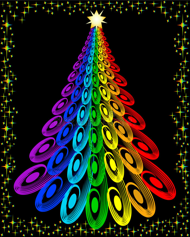 Download Original Colorful Christmas Tree Stock Illustration - Image: 3766858