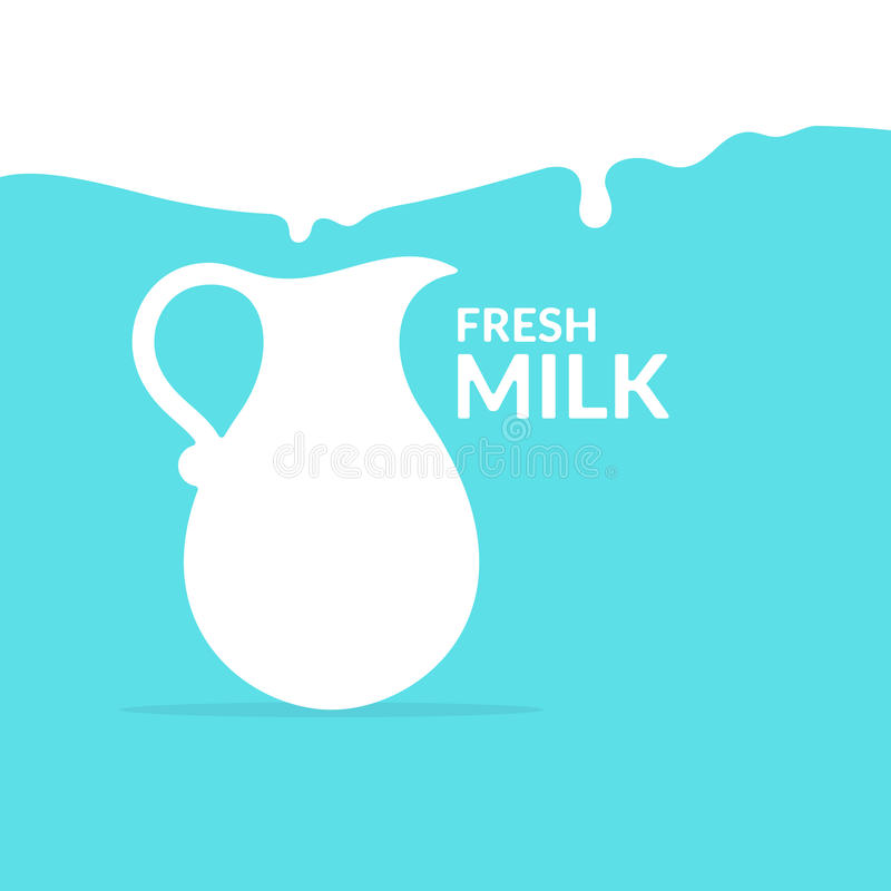 The original concept poster to advertise milk. royalty free illustration