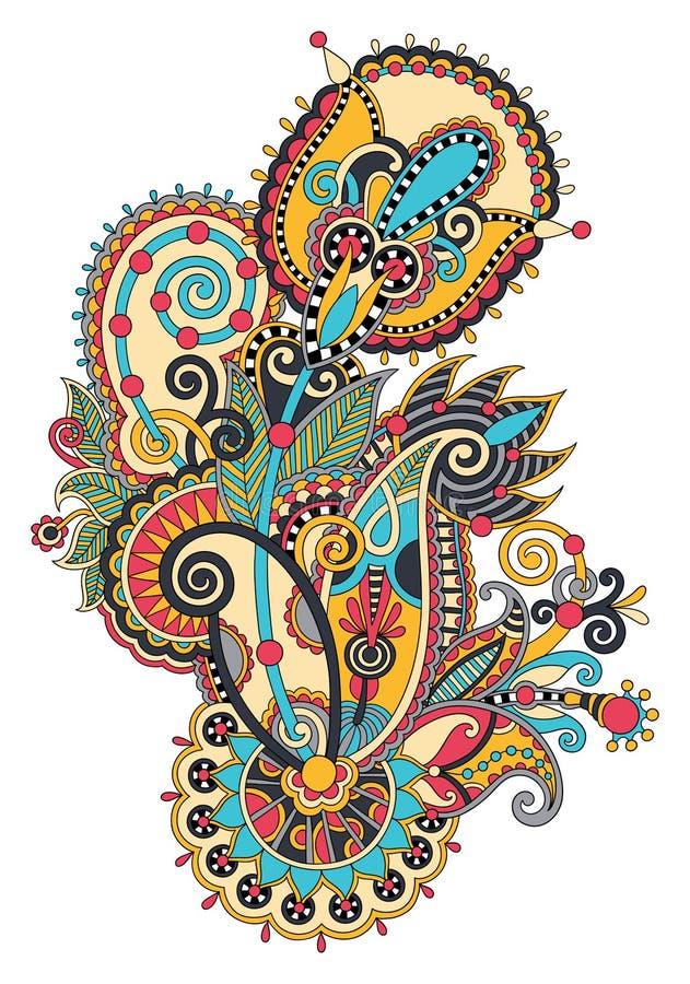 Download Original Conception Fleurie Aspiration De Main De Fleur De Schéma Illustration de Vecteur - Illustration du encre, ornemental: 45354462