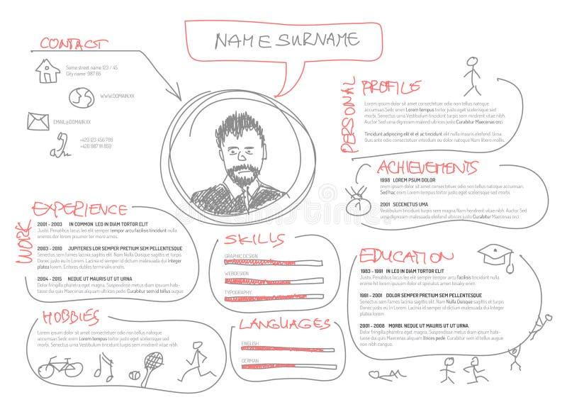 original cv    resume template stock illustration