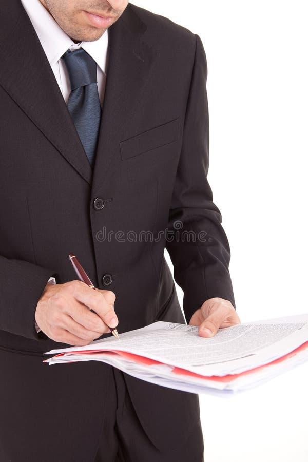 Original de assinatura do homem de negócio fotos de stock royalty free