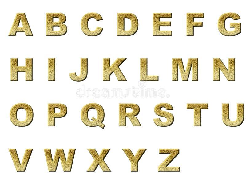 Or original de couleur d 39 alphabet anglais dans des lettres - Lettres alphabet originales ...
