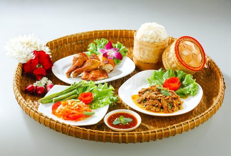 Original de nordeste tailandesa del estilo del alimento fotografía de archivo