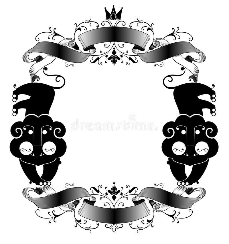 Original decorative frame royalty free illustration