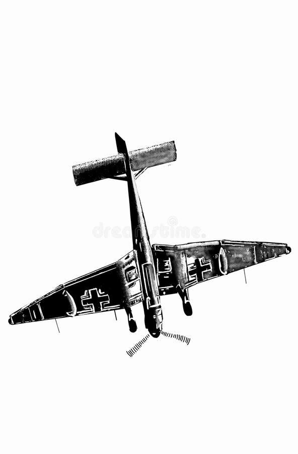 Digital Sketch Of World War 2 Aircraft Stock Illustration