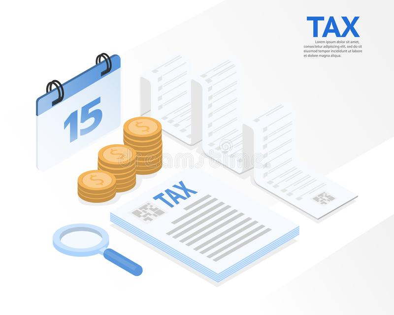 Original do recibo de imposto, ilustração do vetor imagens de stock