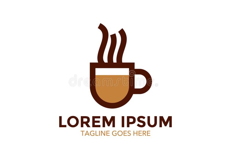 Original e esteja para fora o logotipo do café Ilustração do vetor editable ilustração stock