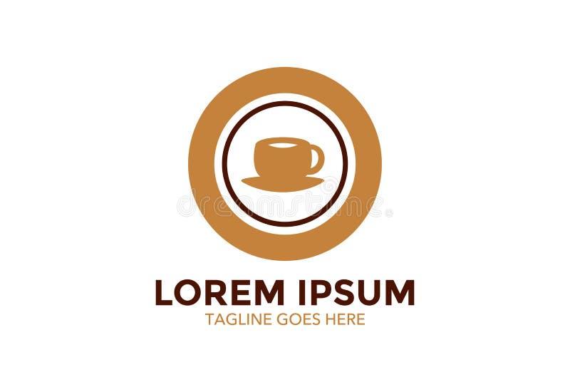 Original e esteja para fora o logotipo do café Ilustração do vetor editable ilustração do vetor