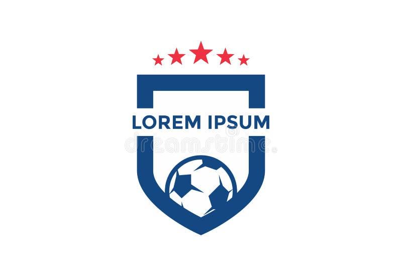 Original e esteja para fora o logotipo do futebol Ilustração do vetor editable ilustração stock