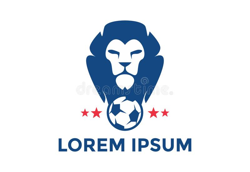 Original e esteja para fora o logotipo do futebol Ilustração do vetor editable fotografia de stock royalty free