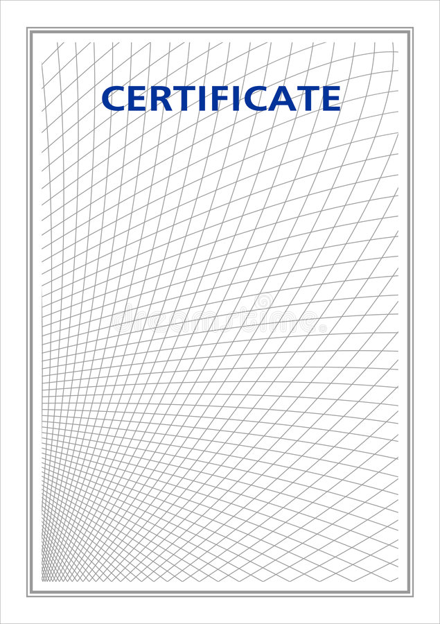 Original em branco para o certificado ilustração stock
