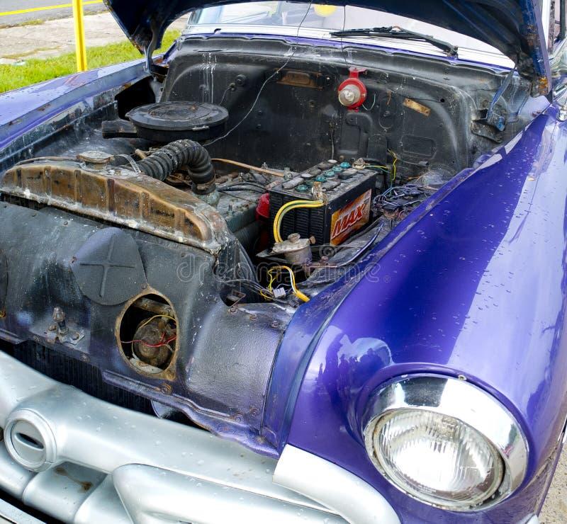 Original engine of a vintage car. royalty free stock images