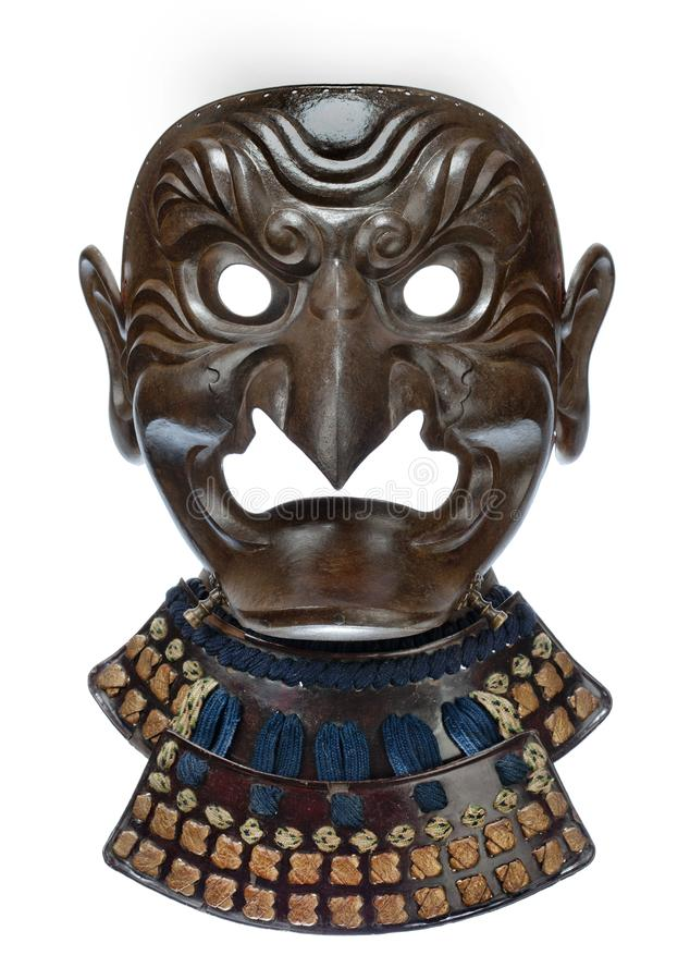 Japanese warriors face mask royalty free stock photography