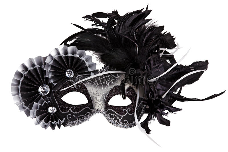 The original festive carnival mask gold royalty free stock image