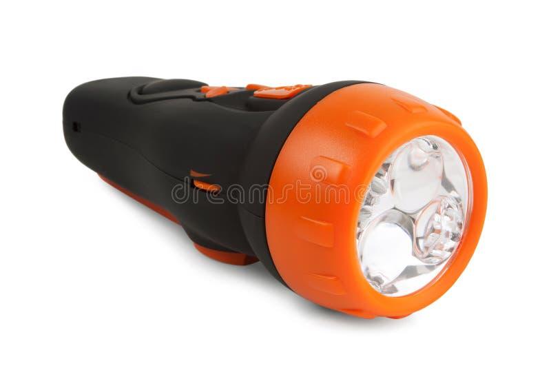 Original flashlight in a rubber case stock photography