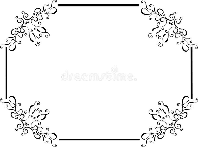 Original floral retro frame vector illustration