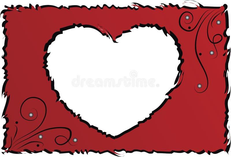 Original frame with heart vector illustration