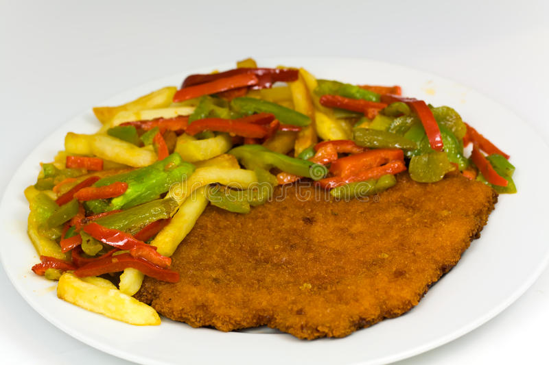 Original fried breaded Veal Viennese (could be eit