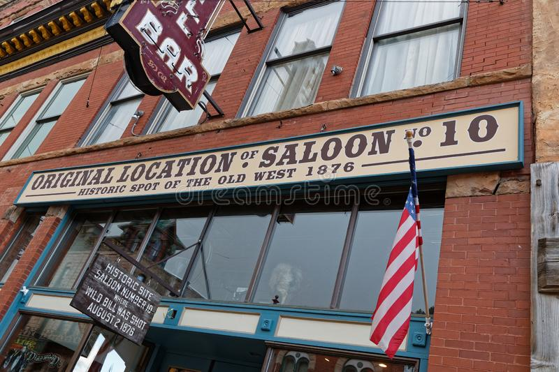 Original- gammal salong i Deadwood royaltyfri foto