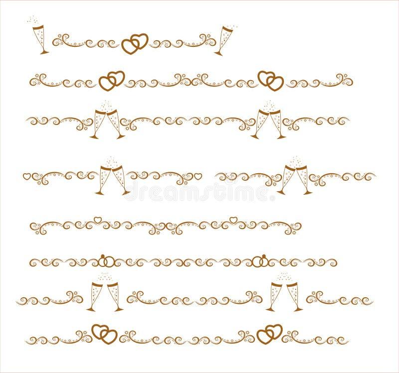 The Original Gold Seamless Decorative Patterns Stock Photos