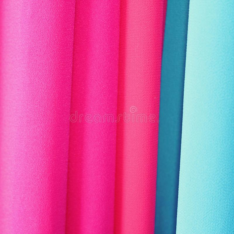 The original gradient of fabric. Oriental silk background. Pink and blue. stock images