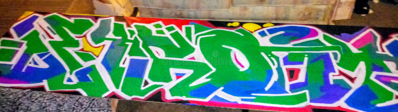 Original graffiti by twizz stock images