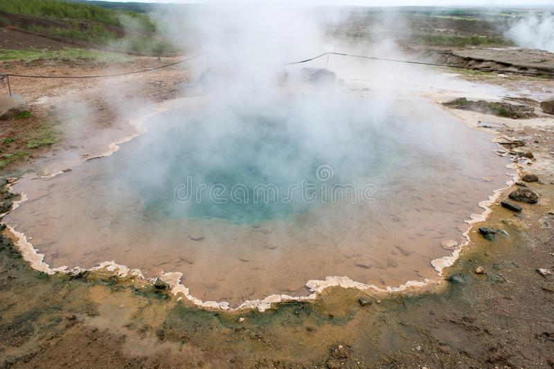 The original Great Geysir, Geyser in Iceland stock image