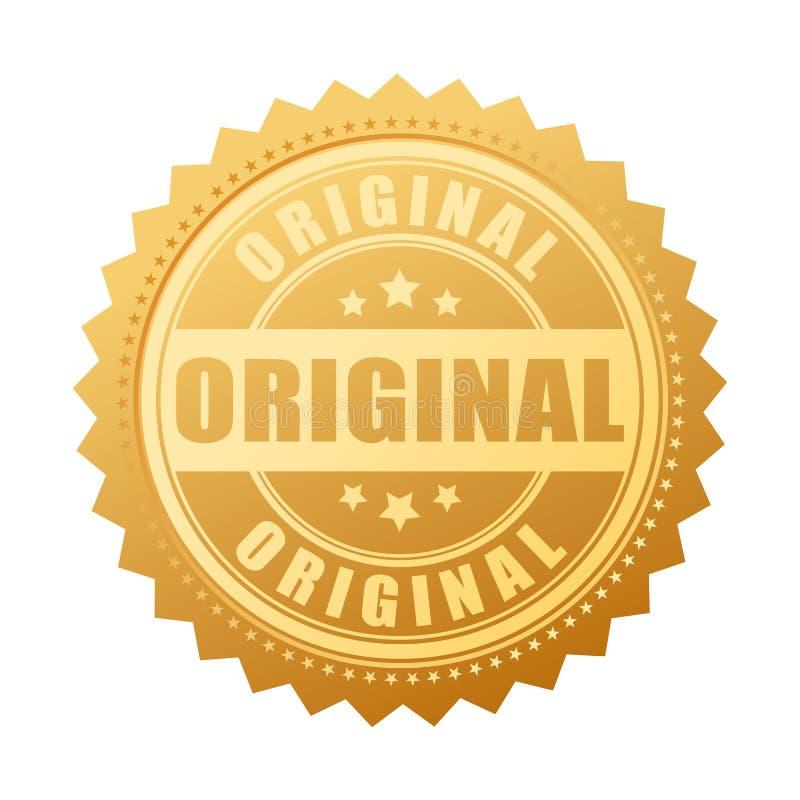 Original- guld- skyddsremsasymbol vektor illustrationer