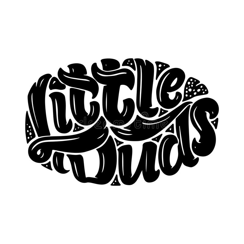 Original hand drawn illustration with lettering for kids shop logo design and prints. Hand drawn vector illustration. Original hand drawn illustration with stock illustration