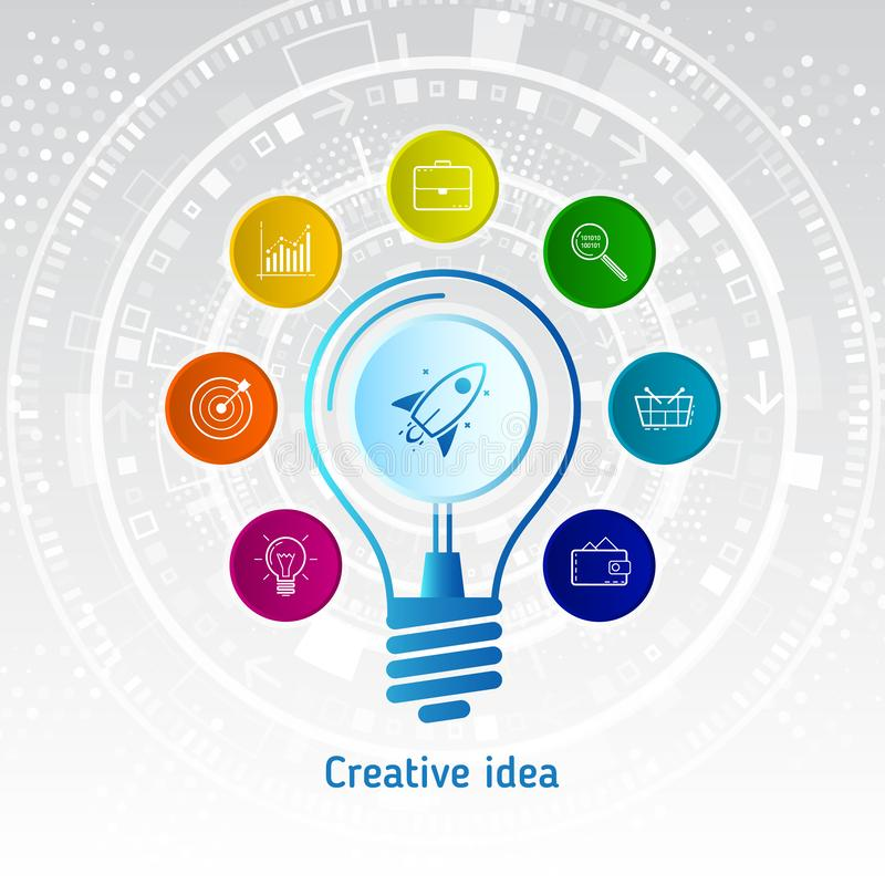 Original- idé för idérik inspiration vektor illustrationer