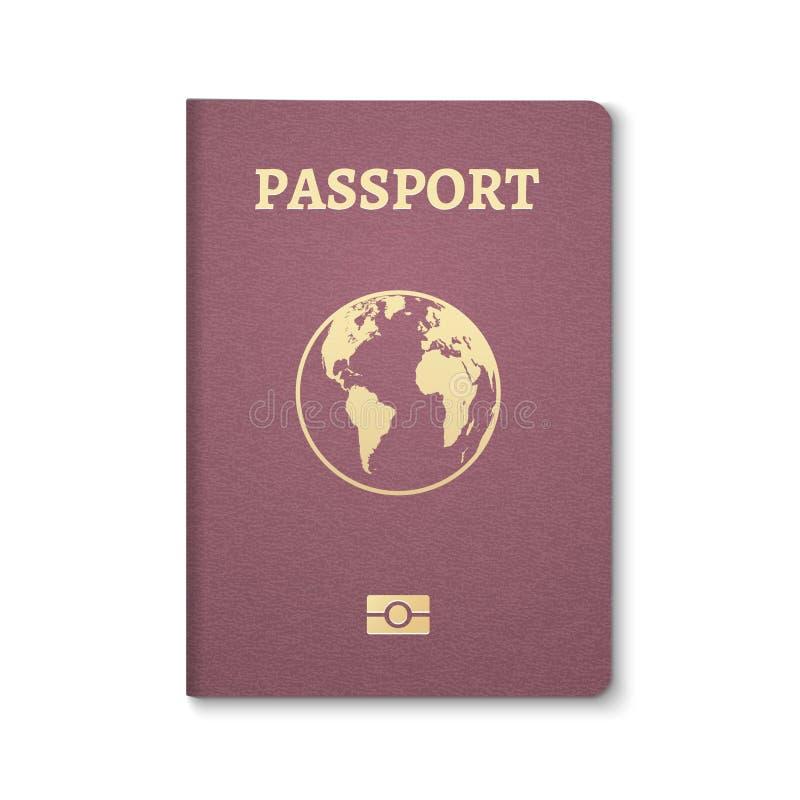 Original identificação do passaporte Passagem internacional para o curso do turismo Identificação do cidadão do passaporte da emi ilustração royalty free