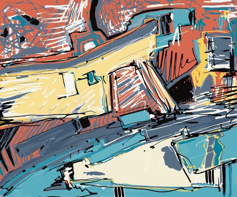 Original illustration of abstract art digital vector illustration