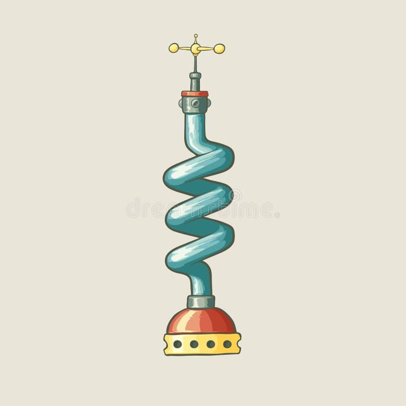Original- illustration av ett steampunk utformat rör royaltyfri illustrationer