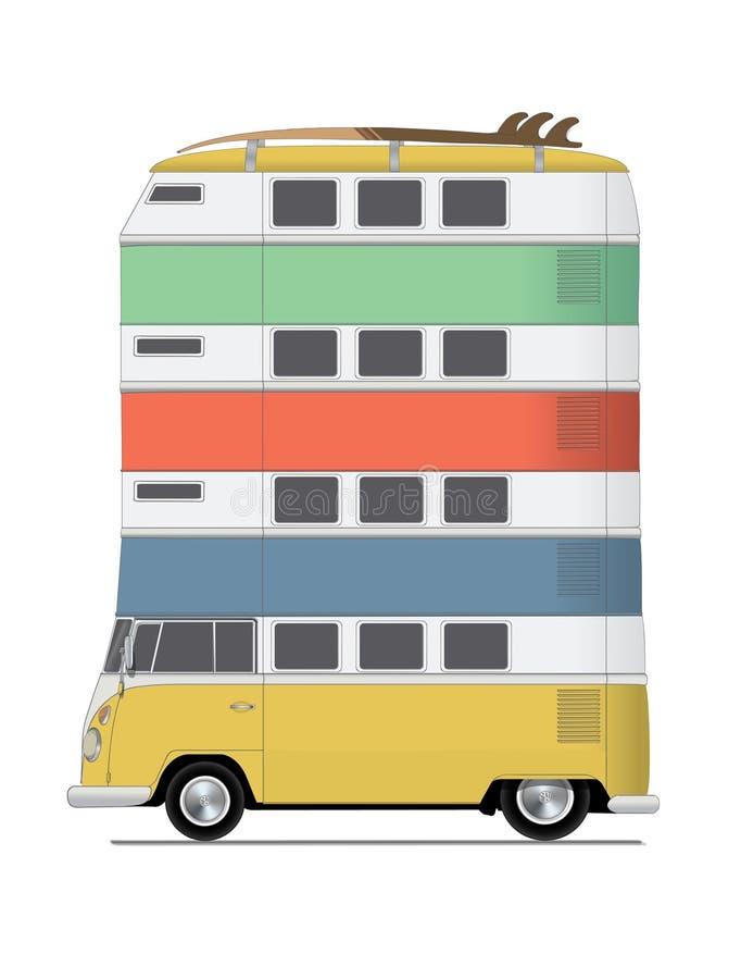 Original- illustration, Storied skåpbil fyra royaltyfri foto