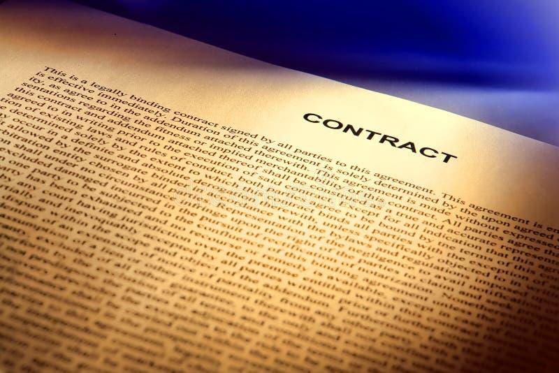 Original legal do contrato no inglês dos direitos comuns foto de stock