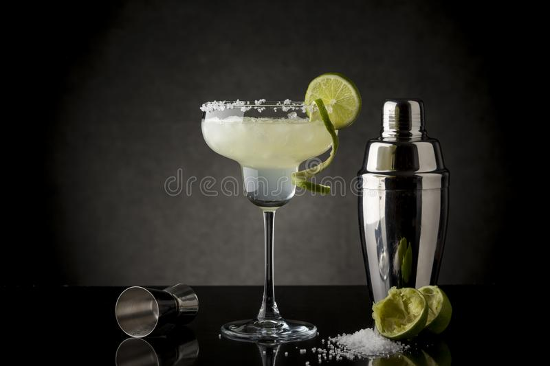 Original Lime Margarita Cocktail royalty free stock photography