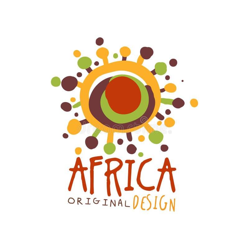 Original- mall för afrikanabstrakt begrepplogo royaltyfri illustrationer