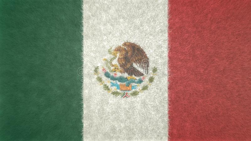 Original Mexico 3D flag image. royalty free illustration
