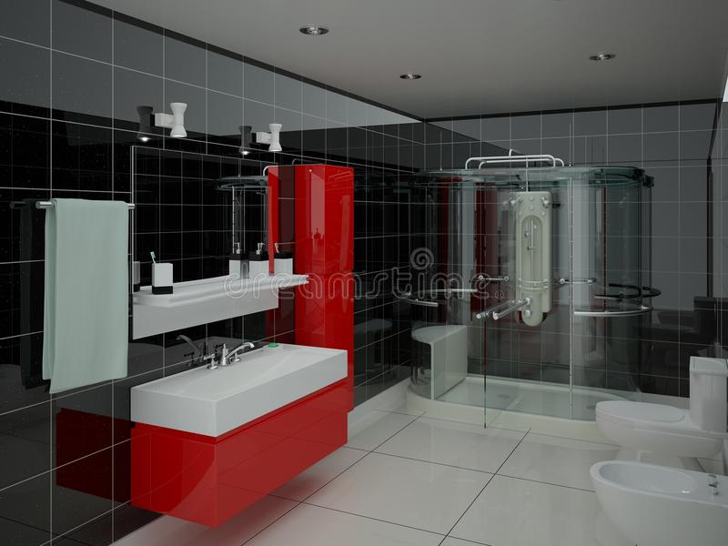 Original modern bathroom. vector illustration