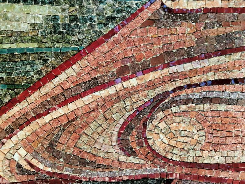 Original mosaic background, pieces of tiles, antiquity, vintage template royalty free stock images
