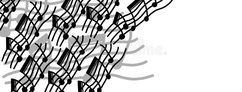 Original music frame vector illustration