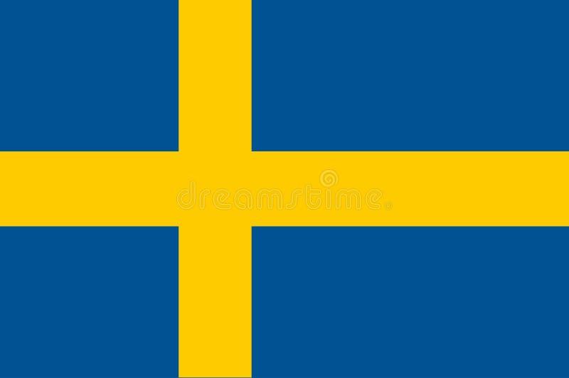 Original- och enkel Sverige flagga isolerad vektor i officiella färger och proportion korrekt royaltyfri illustrationer