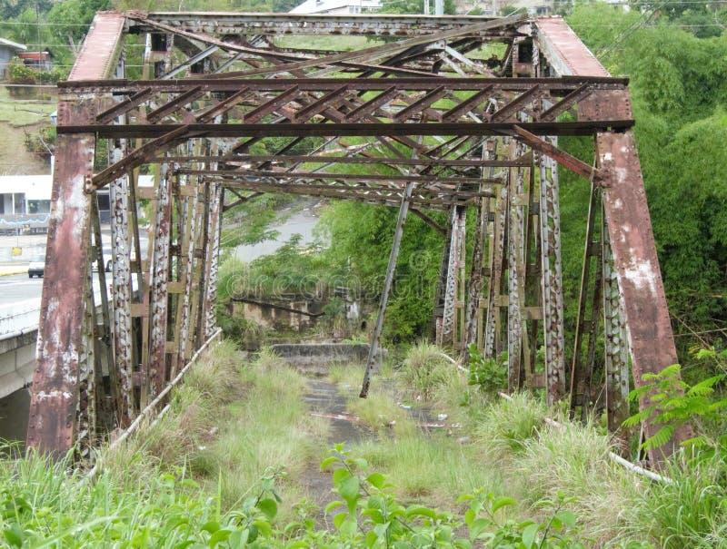 The original old rusty bridge known as puenta plata between Naranjito and Bayamon. Original old rusty bridge known puenta plata naranjito stock images