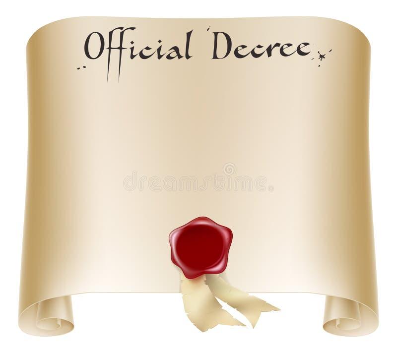 Rolo do certificado oficial ilustração do vetor