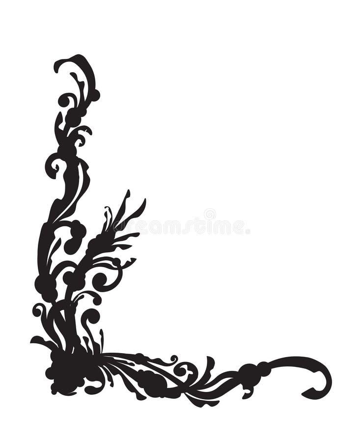 Original- ovanligt svart hörn för din design royaltyfri illustrationer