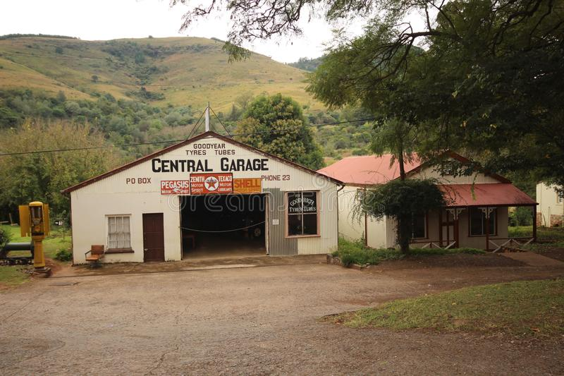 Pilgrims Rest - Buildings - Garage. Original Pilgrims Rest building in Mpumalanga. Garage on the main Street stock images