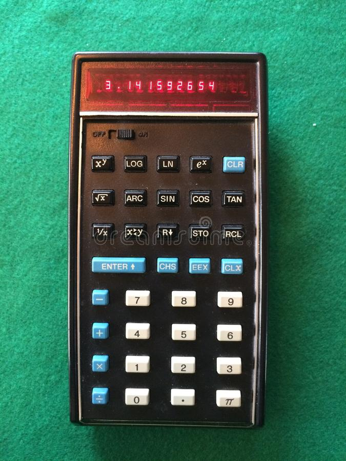 Original Pocket Calculator royalty free stock photos