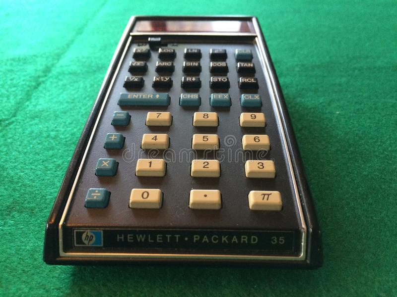 Original Pocket Calculator royalty free stock photo