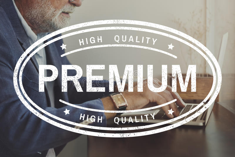 Original Premium Limited Quality Concept royalty free stock photography