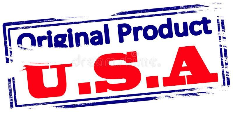 Original- produkt USA stock illustrationer